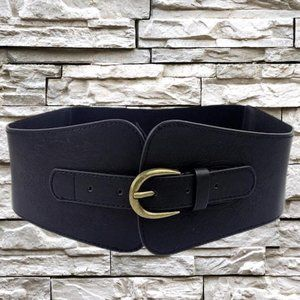 Accessories - GORGEOUS WIDE BLACK BELT